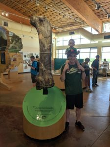 Nate and Parker at Dinosaur National Monument